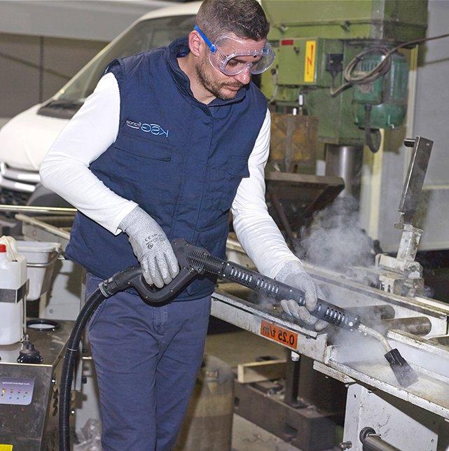 Nettoyage industriel vapeur sèche